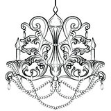 Lustre classique baroque Image stock