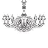 Lustre de Rich Baroque Classic sur le fond blanc Photos libres de droits