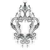 Lustre de Rich Baroque Classic sur le fond blanc Images libres de droits
