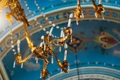 lustre de vintage de monument dans l'antiq traditionnel de lampe d'église Photo libre de droits