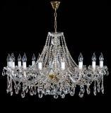 Lustre en cristal élégant de strass avec dix lampes images stock