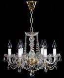 Lustre en cristal élégant de strass avec six lampes image stock