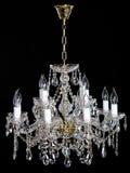 Lustre en cristal de strass d'élégance avec huit lampes photos stock