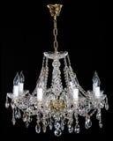 Lustre en cristal de strass d'élégance avec huit lampes photo libre de droits
