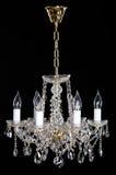 Lustre en cristal de strass d'élégance avec huit lampes photos libres de droits