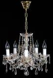 Lustre en cristal de strass d'élégance avec huit lampes image stock