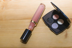 lustre et ombres de lèvre Image libre de droits