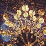Lustre et plafond, Suzdal, Russie Image libre de droits