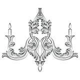 Lustre exquis de Rich Baroque Classic Image libre de droits