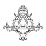 Lustre exquis de Rich Baroque Classic Images libres de droits