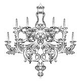 Lustre exquis de Rich Baroque Classic Photos libres de droits