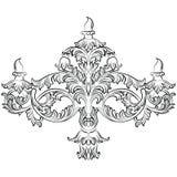 Lustre fabuleux de Rich Baroque Classic Image libre de droits