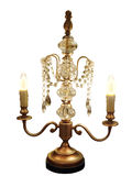 Lustre fleuri de lampe de Tableau Photo stock