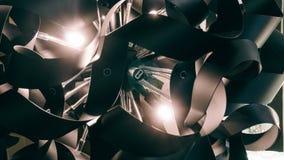 Lustre moderne de concepteur Conception moderne et conception d'éclairage de la salle Conception de lumière et d'espace Unfocused Image stock