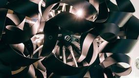 Lustre moderne de concepteur Conception moderne et conception d'éclairage de la salle Conception de lumière et d'espace Unfocused Photo stock