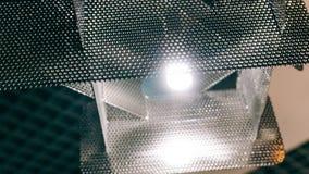 Lustre moderne de concepteur Conception moderne et conception d'éclairage de la salle Conception de lumière et d'espace Unfocused Photographie stock
