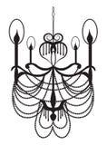 Lustre moderne néoclassique sur le fond blanc illustration de vecteur
