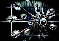 Lustre noir avec la structure métallique Photo libre de droits