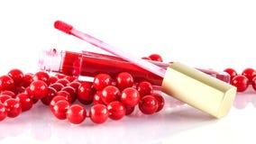 Lustre rojo del labio Imagen de archivo libre de regalías