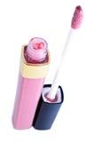 Lustre rosado del labio Foto de archivo libre de regalías