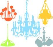 Lustre set. Set of a various lamps Stock Photo
