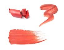 Lustre taché de languette ou échantillons de rouge à lievres Photos libres de droits