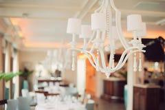 Lustro bianco elegante Fotografia Stock