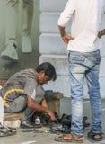 Lustro Delhi della scarpa Fotografia Stock
