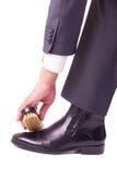 Lustro della scarpa Immagine Stock