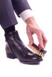 Lustro della scarpa Fotografie Stock