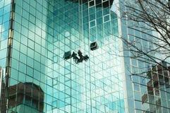 lustro wspinaczkowy ściany pracownika Zdjęcie Stock