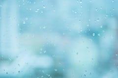 Lustro z deszcz kropli tłem Zdjęcia Stock