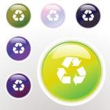 Lustrosos coloridos recicl a tecla Imagem de Stock