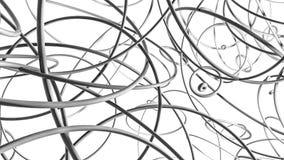 An?is lustrosos tridimensionais Ilustra??o abstrata 3d rendem ilustração do vetor