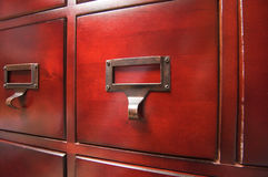 Lustrous Wooden Cabinet Stock Photo