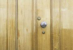 Lustrous Wooden Door Royalty Free Stock Photos