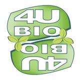 Lustrzana etykietka dla bioproduct Zdjęcia Stock