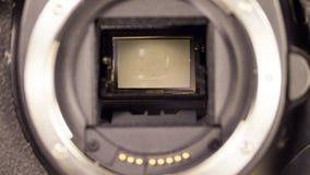 Lustrzana i żaluzja mechanizmu DSLR kamera obraz royalty free
