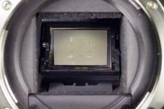 Lustrzana i żaluzja mechanizmu DSLR kamera zdjęcia stock