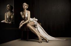 lustrzana kobieta Zdjęcie Stock