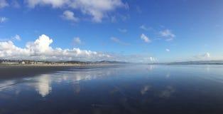 Lustrzana plaża Obraz Royalty Free