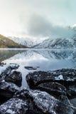 Lustrzana powierzchnia halny jezioro Obraz Royalty Free