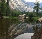 Lustrzany Jeziorny Yosemite park narodowy obraz stock