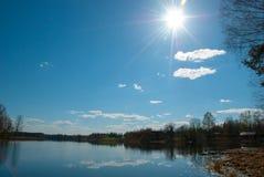Lustrzany jezioro Obrazy Royalty Free