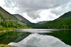 Lustrzany jezioro Blaszana filiżanka, Colorado Obraz Royalty Free