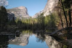 Lustrzany jezioro, Yosemite Zdjęcie Stock