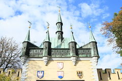 Lustrzany labitynt na Petrin wzgórzu obraz royalty free