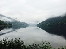 Lustrzany Piękny natury mgły lata Calmness zdjęcie stock