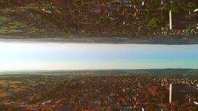 Lustrzany powietrzny abstrakcjonistyczny tło miasta życie 4K zdjęcie wideo
