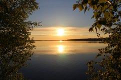 Lustrzany puste miejsce na rzece Fotografia Royalty Free